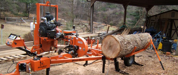 Wood mizer portable band saw